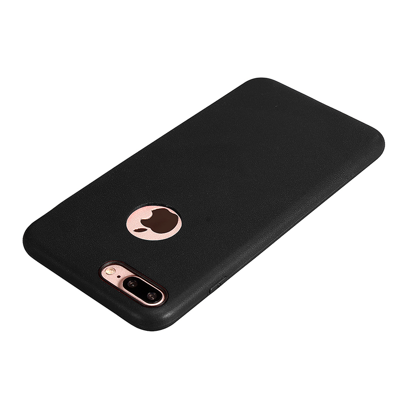 TPU Soft Protective Phone Cover Case for iPhone 7 Plus - Black