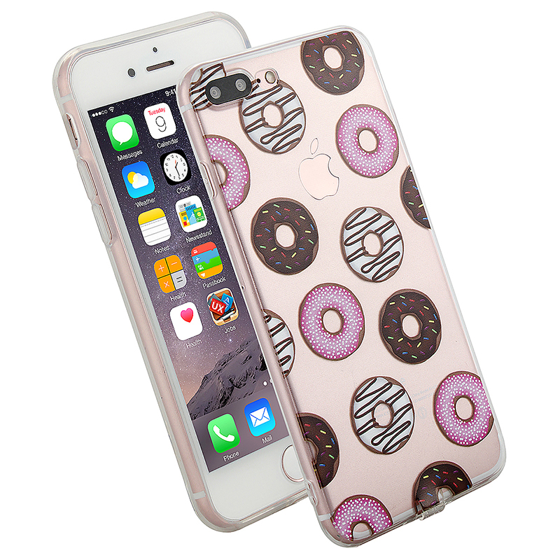 Fashion TPU Soft Protective Phone Cover Case for iPhone 7 Plus - Donut