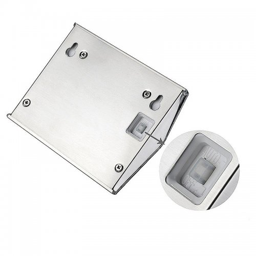 Outdoor LED Solar Step Solar Light Stainless Steel Garden Lights for Stairway Wall - Silver