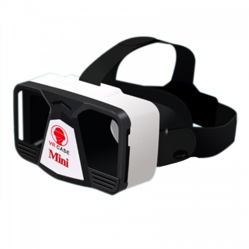 VR Case Mini Virtual Reality Glasses 3D Google Video Glasses - White