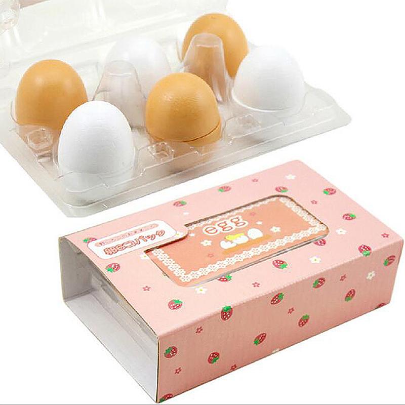 Kids Children 6pcs Wooden Eggs Yolk Kitchen Food Cooking Toy Set