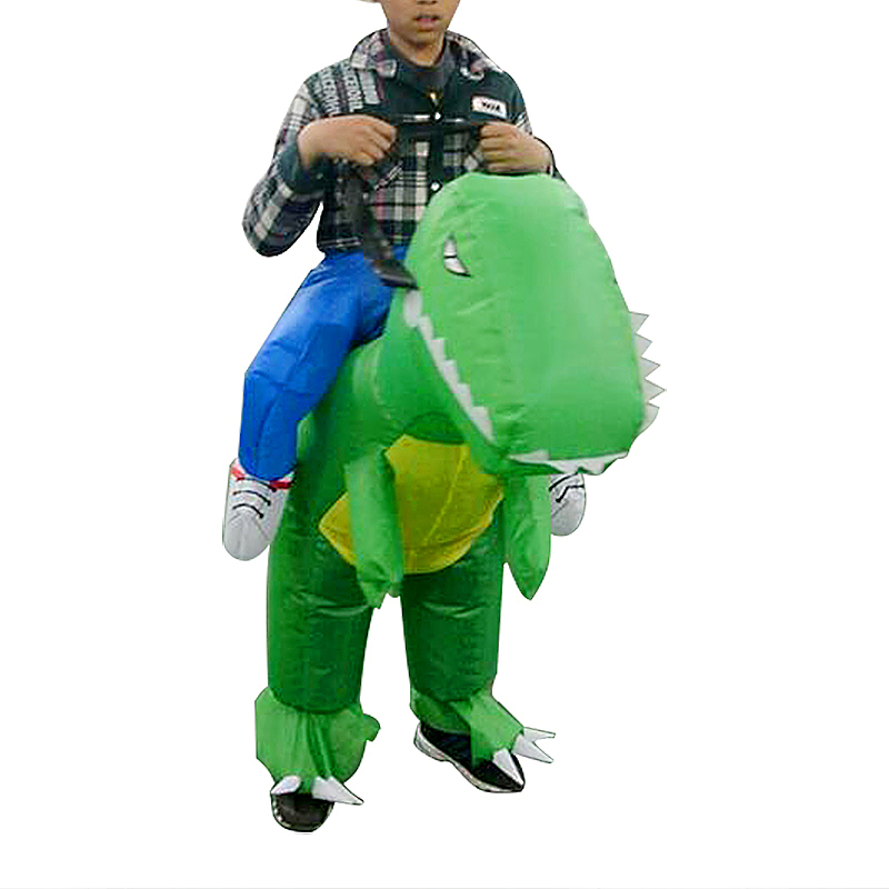 Kids Inflatable Dinosaur Fancy Dress Funny Party Costume Suit