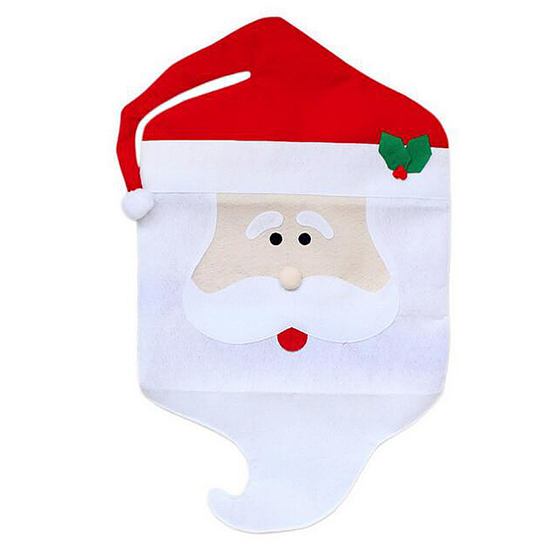 Mr Santa Claus Home Kitchen Chair Back Covers for Christmas Decoration