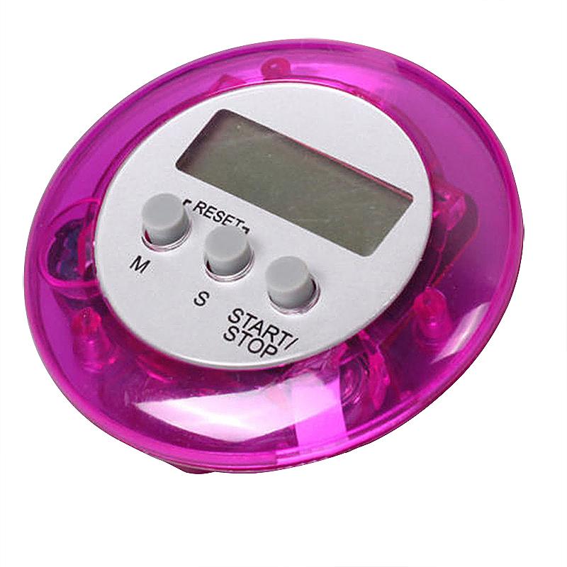 Digital Magnetic LCD Stopwatch Timer Kitchen Racing Alarm Clock - Purple