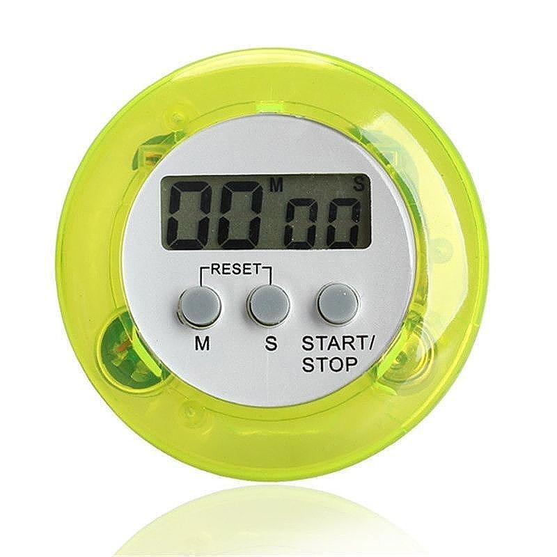 Digital Magnetic LCD Stopwatch Timer Kitchen Racing Alarm Clock - Green