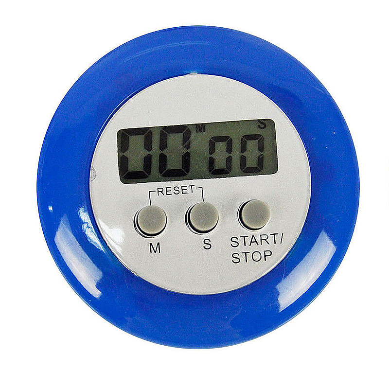 Digital Magnetic LCD Stopwatch Timer Kitchen Racing Alarm Clock - Blue