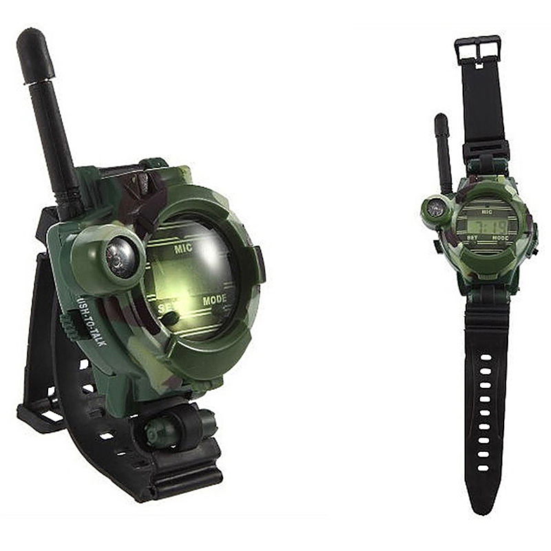 2pcs Kids Outdoor Games Walkie Talkie Watches Interphone Toy