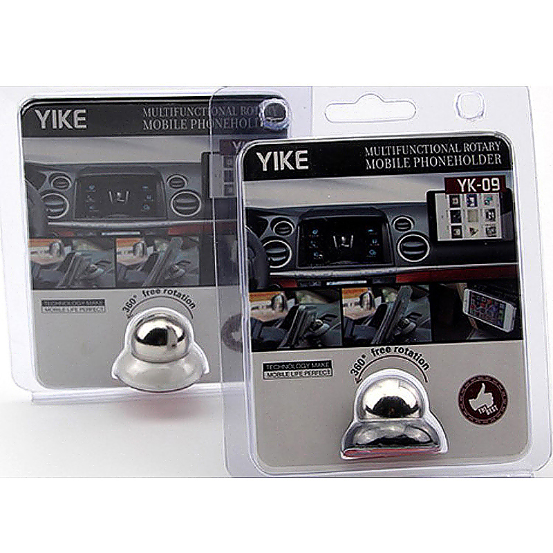 Magnet Support Car Dash Stick on Phone Holder with YIKE Logo - White