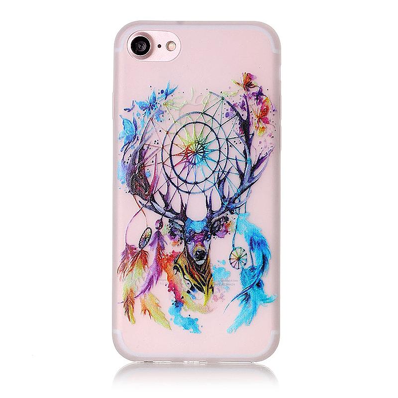 Luminous in Dark TPU Protective Phone Back Cover for iPhone 7 - Aeolian Bells