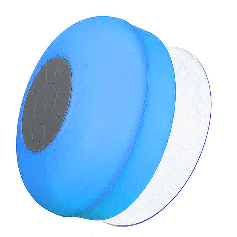 Waterproof Mini Portable Hands-free Bluetooth Speaker with Sucker - Blue