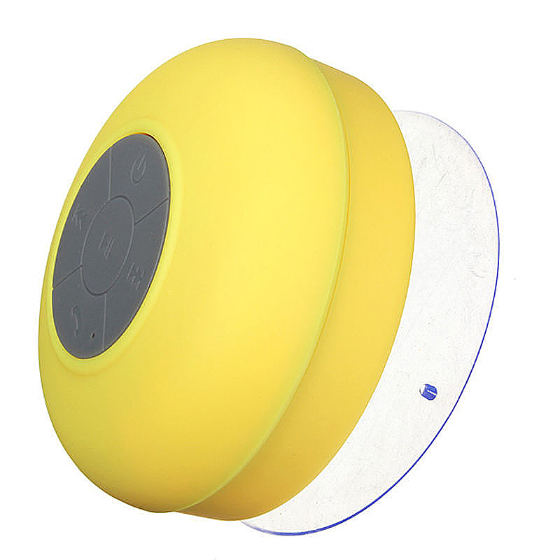 Waterproof Mini Portable Hands-free Bluetooth Speaker with Sucker - Yellow