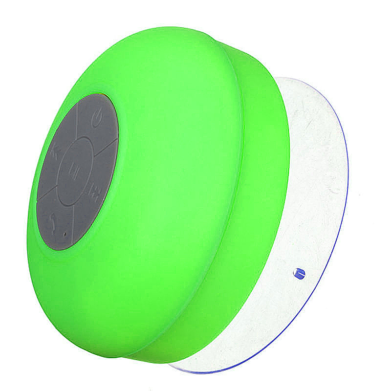 Waterproof Mini Portable Hands-free Bluetooth Speaker with Sucker - Green