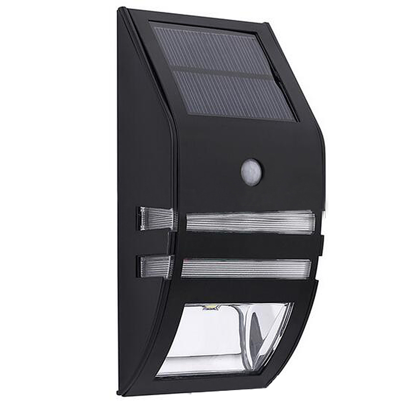 LED Motion Sensor Solar Security Flood Wall Garden Outdoor  Light - Warm Light