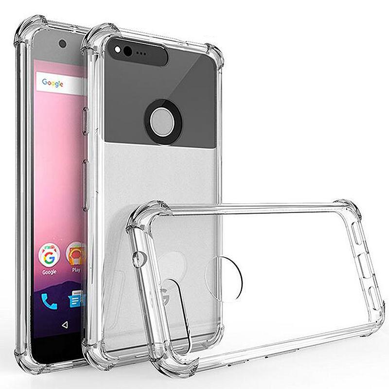 5inch Google Transparent Cushion Technology Shock Absorber Phone Case for Google Pixel