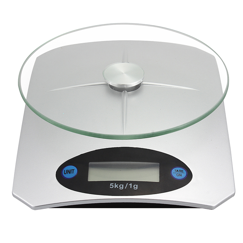 Dgital LCD Electronic Kitchen Scale Fruits Glass Weighing Scale