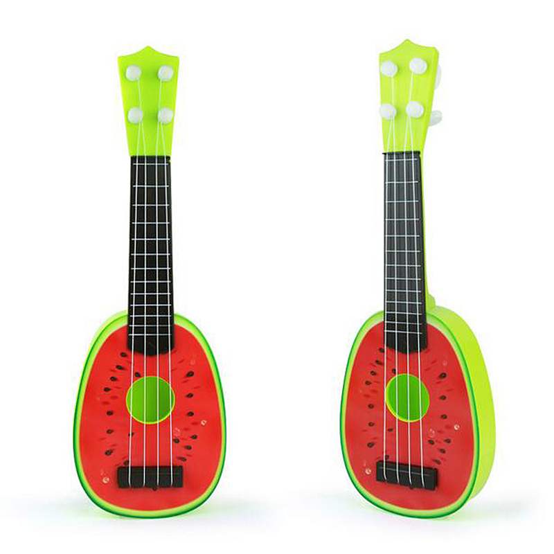 Kids Cute Fruit Musical Guitar Ukulele Instrument Toy Educational Gift - Watermelon