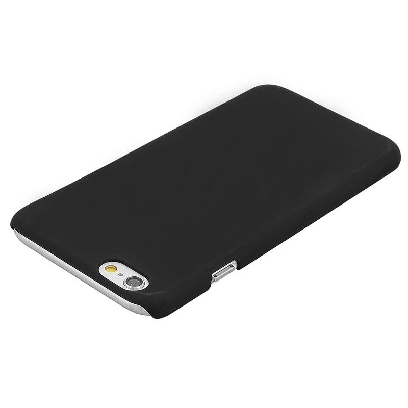 Multicolor Frosted Hard PC Protective Back Phone Case for iPhone 6s - Black
