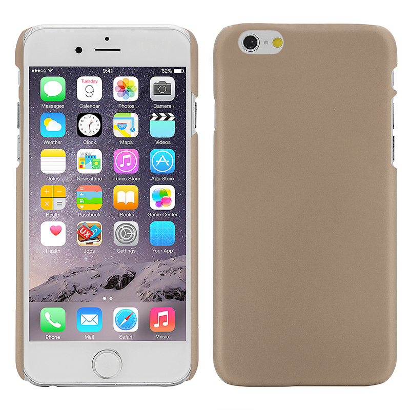 Multicolor Frosted Hard PC Protective Back Phone Case for iPhone 6s - Gold