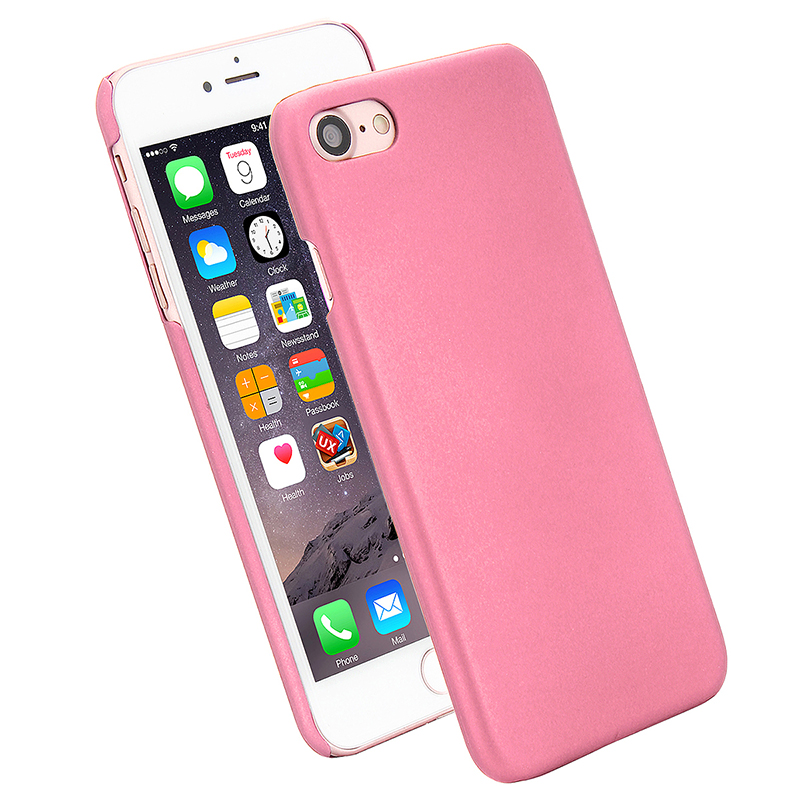 Multicolor Frosted Hard PC Protective Back Phone Case for iPhone 7 - Pink