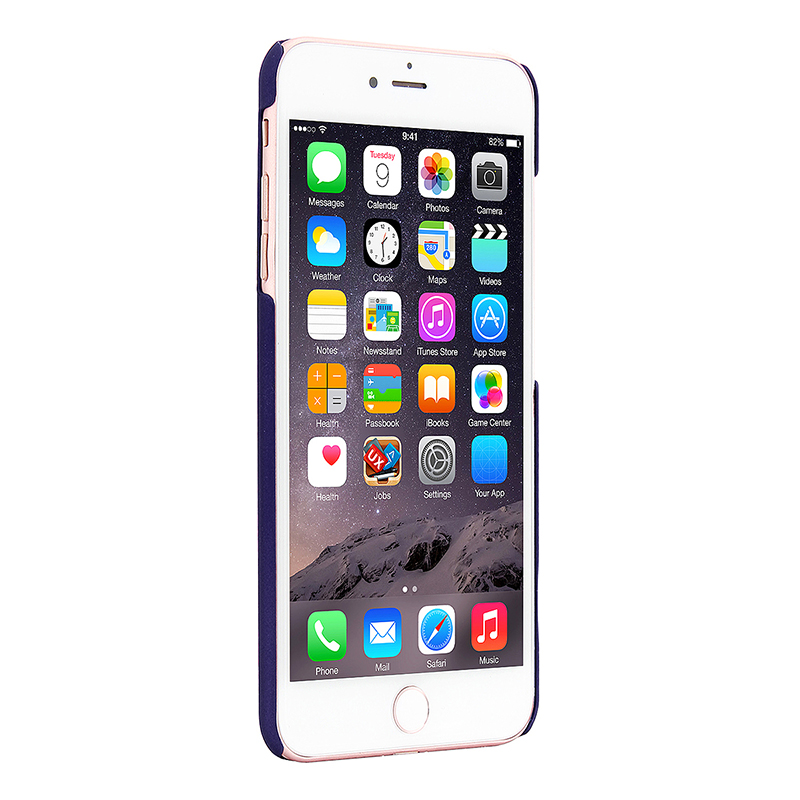 Multicolor Frosted Hard PC Protective Back Phone Case for iPhone 7 - Dark Blue