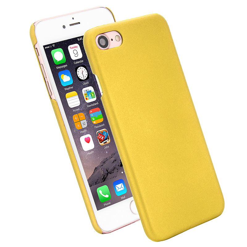 Multicolor Frosted Hard PC Protective Back Phone Case for iPhone 7 - Yellow