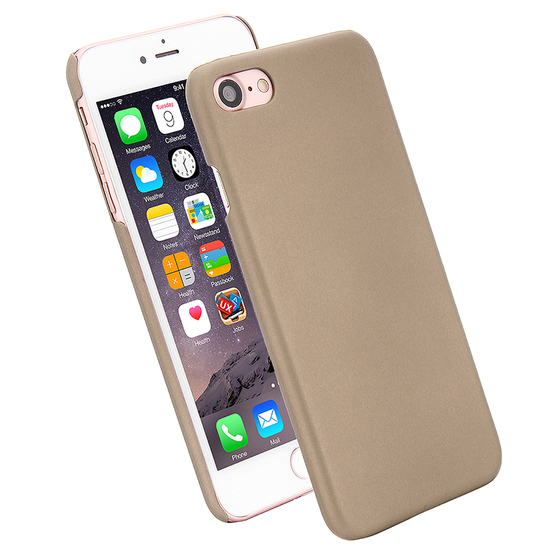 Multicolor Frosted Hard PC Protective Back Phone Case for iPhone 7 - Gold