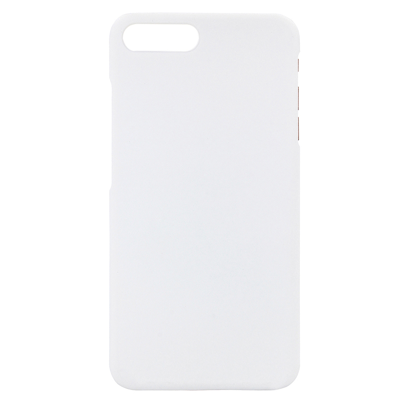 Multicolor Frosted Hard PC Protective Back Phone Case for iPhone 7 Plus - White