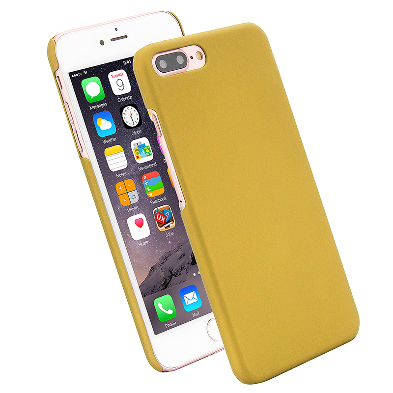 Multicolor Frosted Hard PC Protective Back Phone Case for iPhone 7 Plus - Yellow