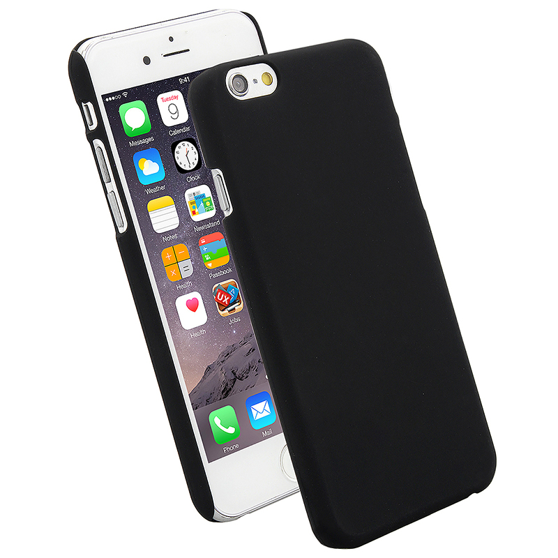 Multicolor Frosted Hard PC Protective Back Phone Case for iPhone 6s Plus - Black