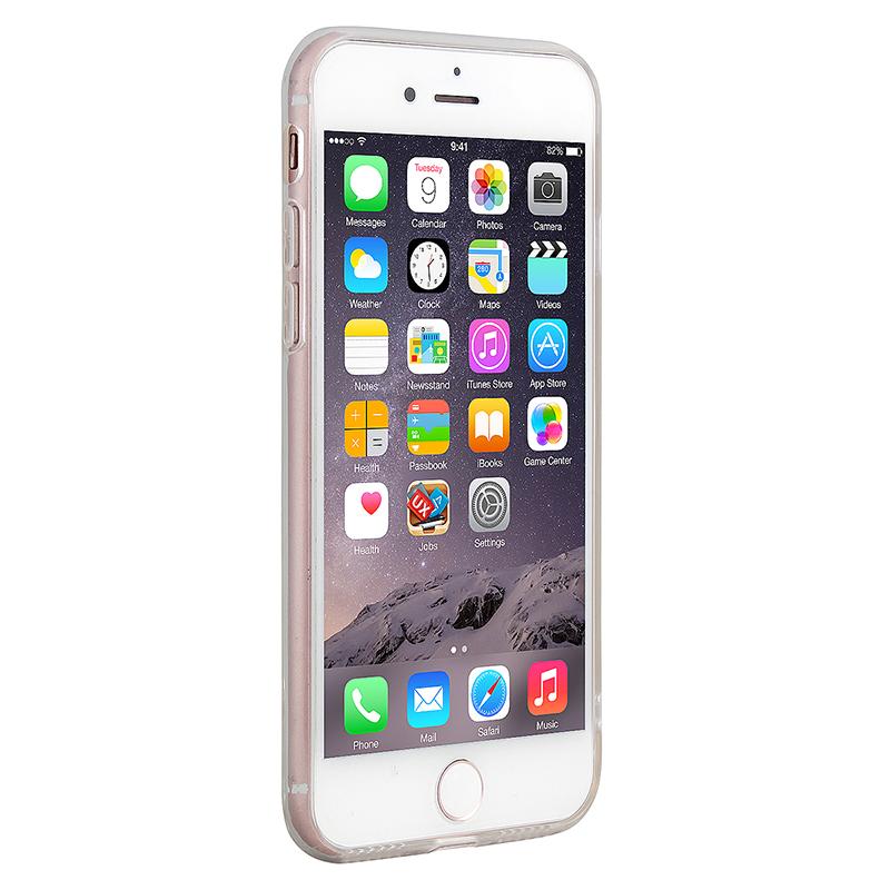 New Slim Soft TPU Transparent Printing Phone Case for iPhone 7 - Black Flower