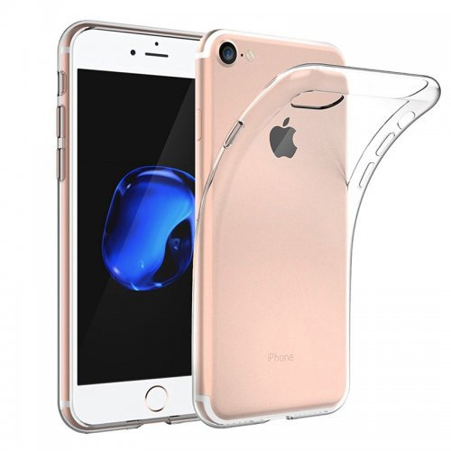 TPU Soft Transparent Protective Phone Cover Case for iPhone 7/8