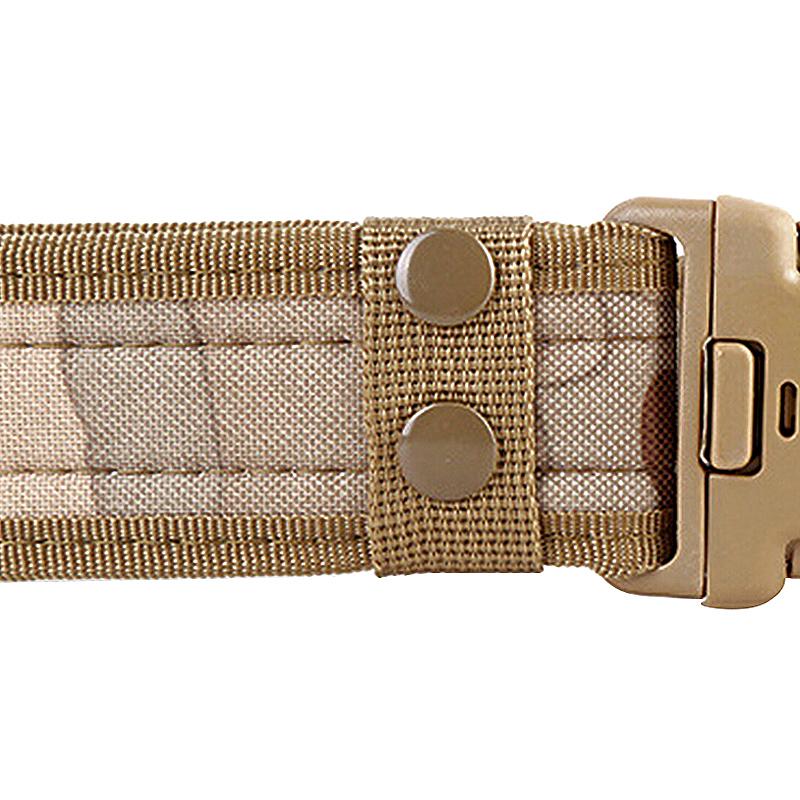 Heavy Duty Canvas Security Guard Army Police Utility Belt - Khaki