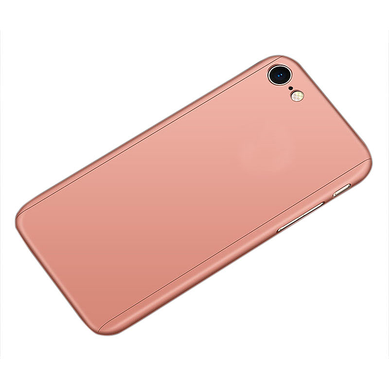360 Degree Frosted Full Body Coverage Protective Case Cover for iPhone 6 Plus - Rose Gold