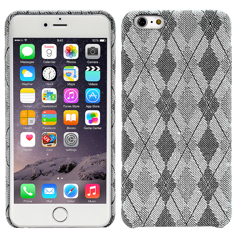 England Grid Fabric Scotland Lines Slim Hybrid Protective Case Cover for iPhone 6/6S - White