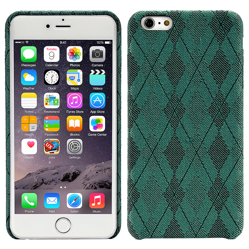 British Grid Cellphone Case Couple Design Gift Phone Cover for iPhone 6/6S Plus - Green