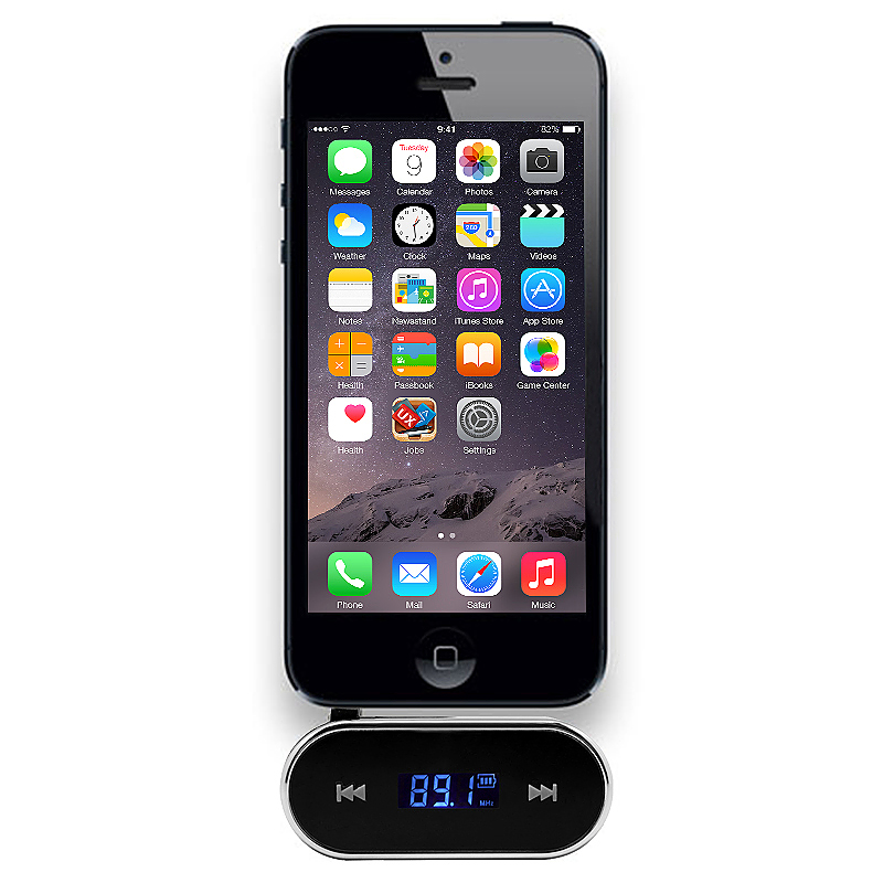 Wireless FM Transmitter MP3 Player Car Kit Charger for iPhone 6 5S - Black