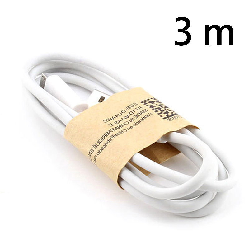 3M Micro USB Charging Data Cable Android Smartphones Charger for Huawei Samsung Galaxy S4 - White