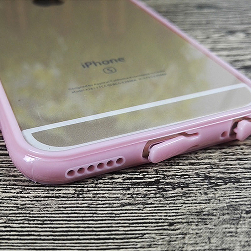 Transparent Ultra Thin Protective Case Cover for iPhone 6 6S - Pink