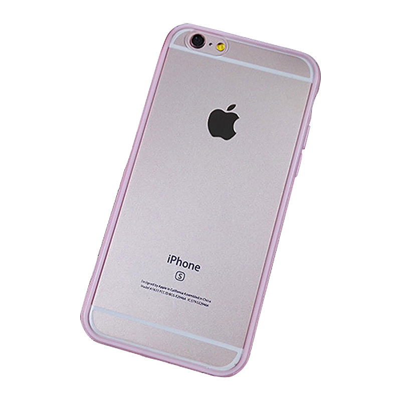 Transparent Ultra Thin Protective Case Cover for iPhone 6/6S Plus - Pink