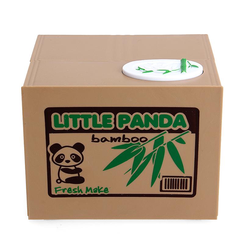 Cute Panda Automatic Stole Steal Coin Piggy Bank Money Saving Box