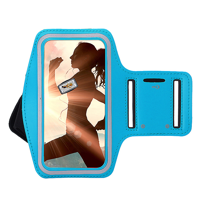 Sports Running Jogging Gym Armband Arm Band Case Cover Holder for iPhone 6 6S - Light Blue