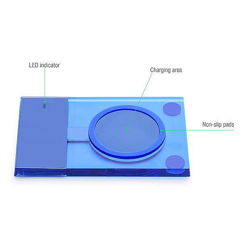 5W Wireless Charger Pad Dock for iPhone Samsung HTC - Blue