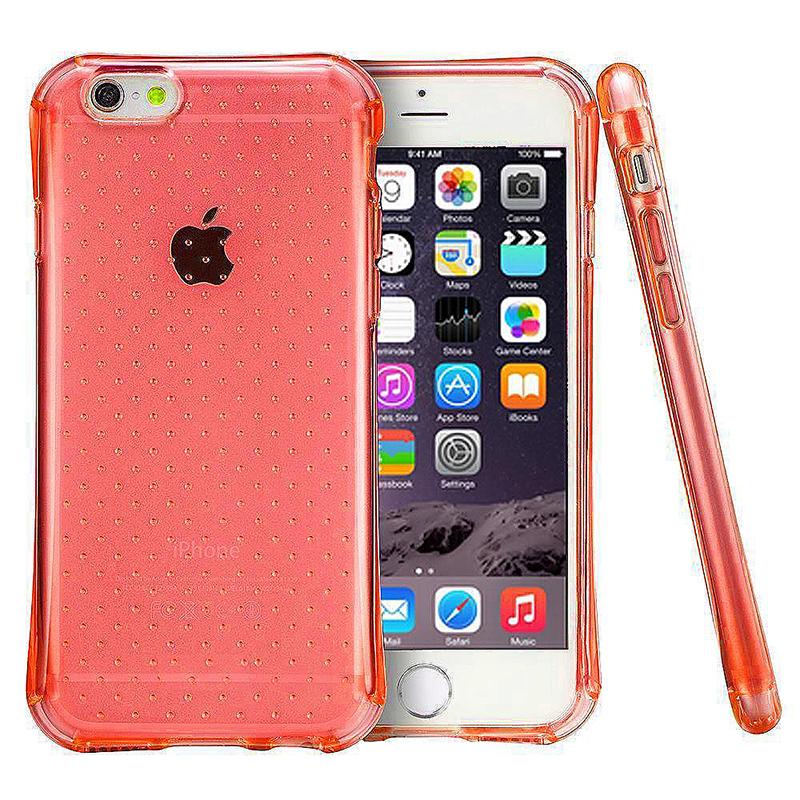 Transparent Dot Anti-Slip Bumper Case TPU Skin for iPhone 6 6S - Red