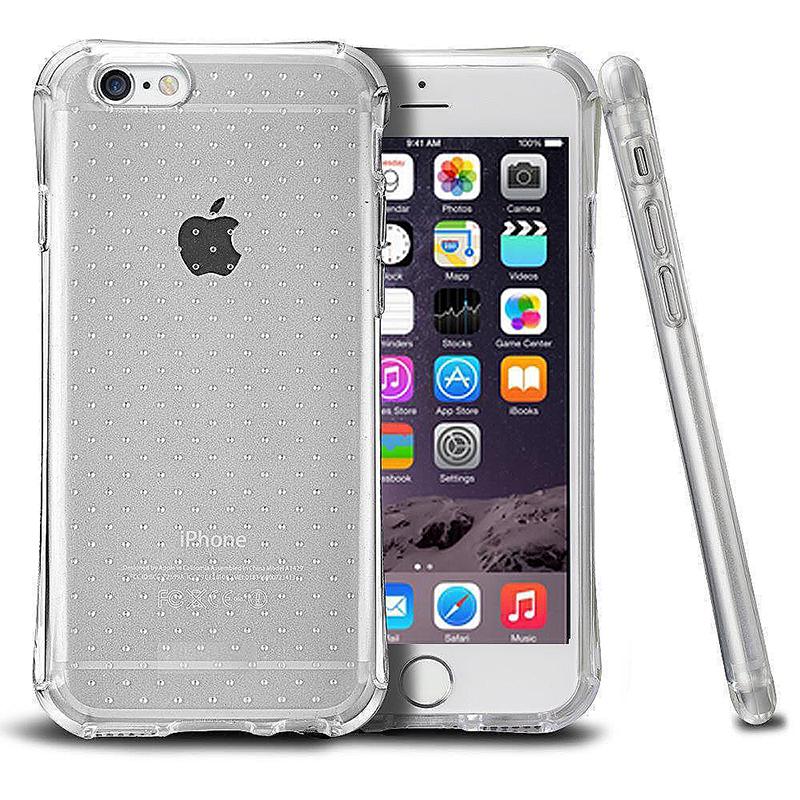 Transparent Dot Anti-Slip Bumper Case TPU Skin for iPhone 6 6S - Grey
