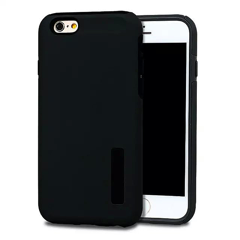 High Quality 2-in-1 Frosted PC TPU Shell Case Cover for iPhone 6 6S - Black