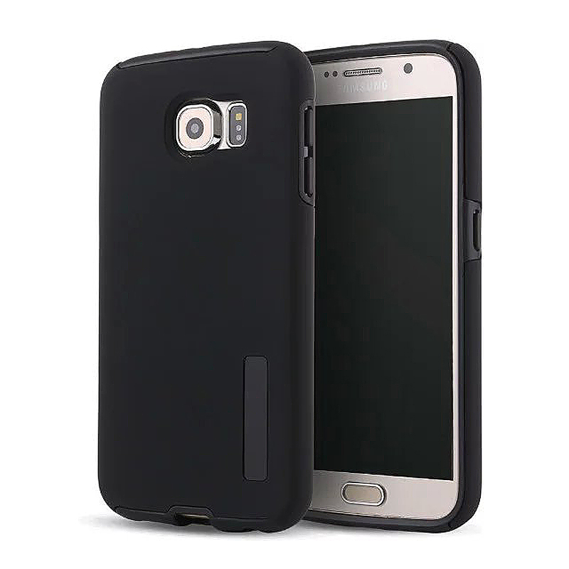 High Quality 2-in-1 Frosted PC TPU Shell Case Cover for Samsung S6 - Black