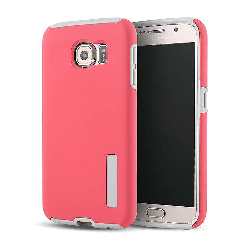 High Quality 2-in-1 Frosted PC TPU Shell Case Cover for Samsung S6 - Red