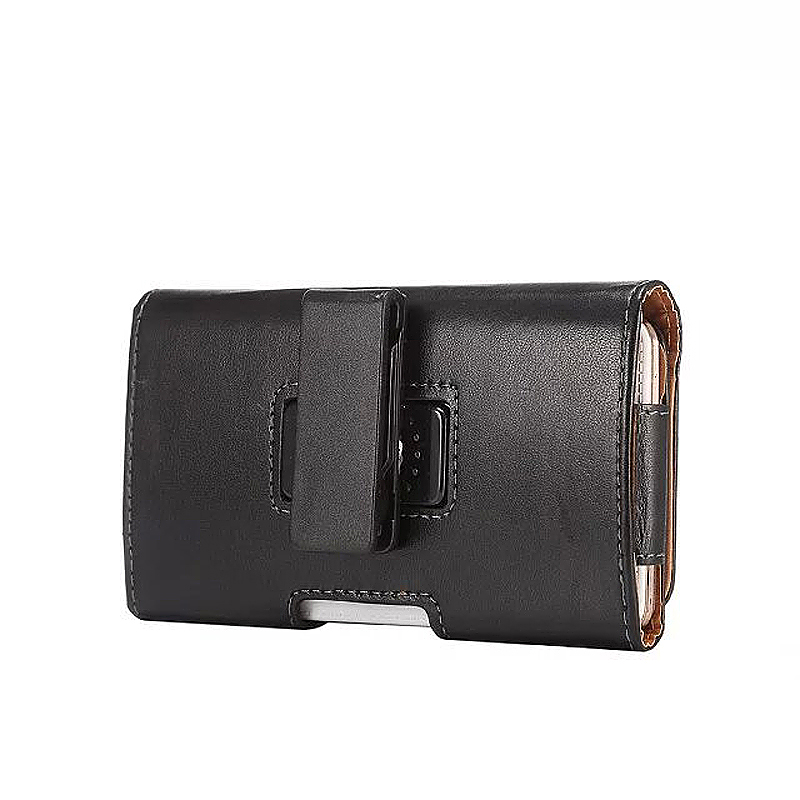 Universal 4.7 Inch Horizontal Leather Rotatable Belt Clip Phone Holster Pounch Cover Case