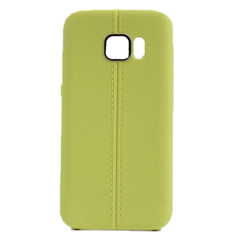Double Line TPU Rubber Slim Soft Skin Case for Samsung S7 - Green