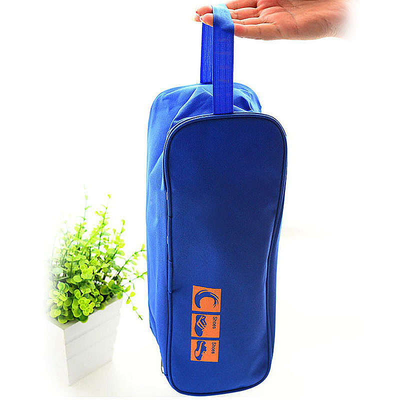 Waterproof Travel Sports Storage Organizer Shoes Carry Tote Bag Visible Pouch - Blue